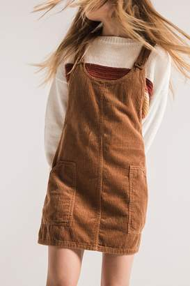 Others Follow Corduroy Overall Dress