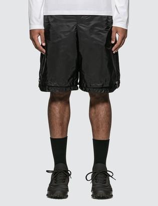 Prada Side Zip Detail Nylon Shorts