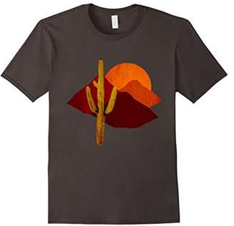 """Saguaro Sunset"" Vintage Desert Cactus Scene T-Shirt"