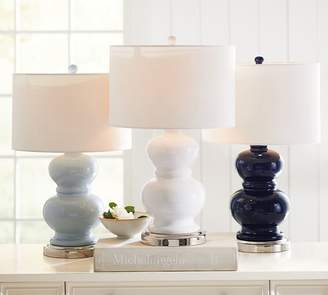 Pottery Barn Alexis Bedside Lamp Base With USB Port