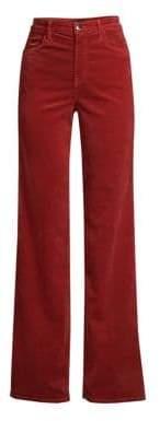 J Brand Joan High-Rise Flared Velvet Pants
