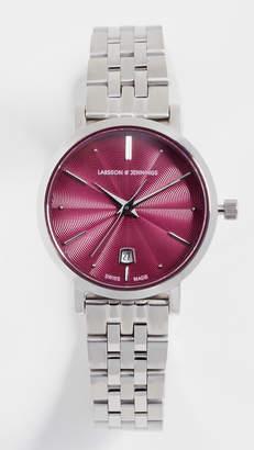 Larsson & Jennings Aurora Polished Guilloche Watch, 26mm