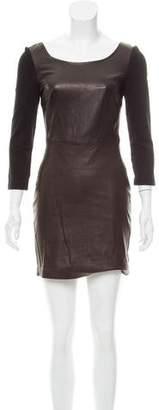 Diane von Furstenberg Zarita Leather Dress w/ Tags