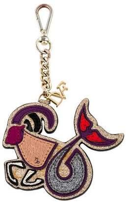 Diane von Furstenberg Leather Capricorn Keychain