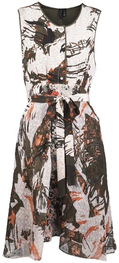 Edun Jungle print silk dress