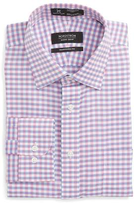Nordstrom Smartcare(TM) Traditional Fit Check Dress Shirt