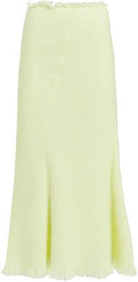 Alexander Wang Frayed Tweed Midi Skirt