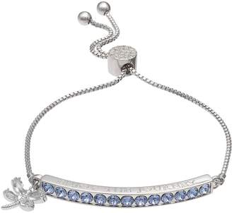 "Brilliance+ Brilliance ""Enjoy the Journey"" Adjustable Bracelet with Swarovski Crystals"