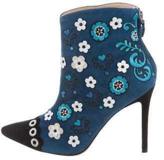 Isa Tapia 2018 Rumba Embroidered Booties w/ Tags
