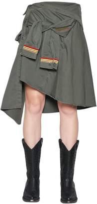 Faith Connexion Military Cotton Canvas Shirt Skirt