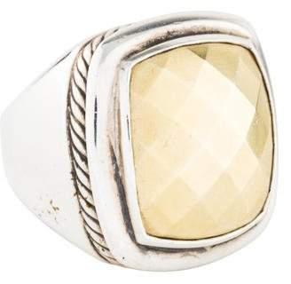 David Yurman Two-Tone Domed Albion Ring