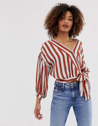 Pepe Jeans Audrey stripe tie waist shirt