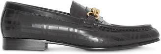Burberry perforated link loafers