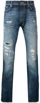 7 For All Mankind Ronnie ripped skinny jeans