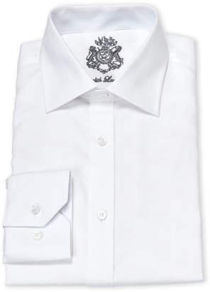 f54f90d6f7 English Laundry White Tonal Plaid Cotton Dress Shirt