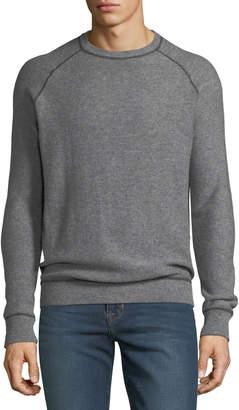 Neiman Marcus Men's Cashmere-Jersey Topstitch Sweater