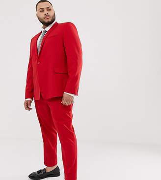 Asos Design DESIGN Plus skinny suit trousers in red