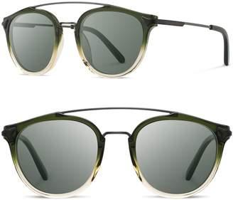 Shwood Kinsrow 49mm Polarized Round Sunglasses