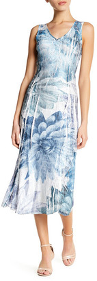 KOMAROV Floral V-Neck Midi Dress (Petite) $258 thestylecure.com