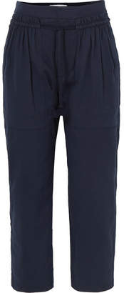 See by Chloe Cotton-twill Tapered Pants - Dark denim