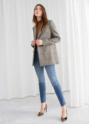 And other stories Oversized Structured Plaid Blazer