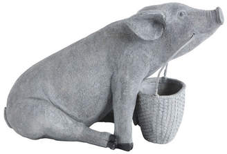 Resin Pig with Basket