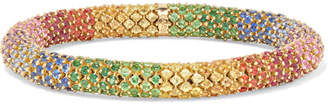 Carolina Bucci Twister Luxe 18-karat Gold Multi-stone Bracelet