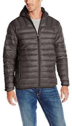 Hawke & Co Men's Hooded Down Puffer Packable Jacket