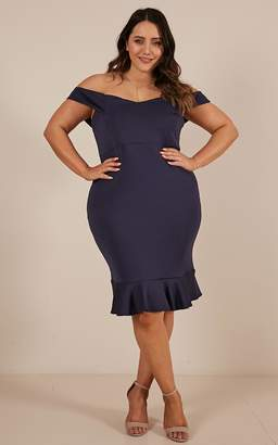Showpo Take My Number Dress in navy - 6 (XS) Sale Dresses