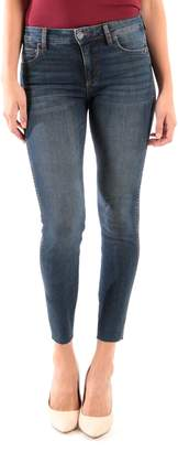 KUT from the Kloth Donna Fab Ab High Waist Raw Hem Skinny Jeans