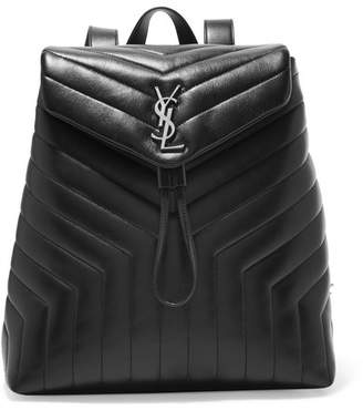 Saint Laurent Loulou Medium Quilted Leather Backpack - Black