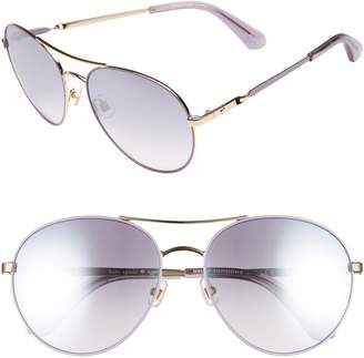 Kate Spade Joshelle 60mm Aviator Sunglasses