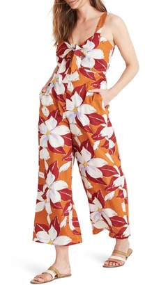 Madewell Island Magnolias Tie-Front Cover-Up Jumpsuit