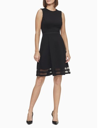 Calvin Klein illusion fit + flare dress
