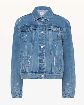 Juicy Couture JXJC Floral Embroidered Denim Jacket
