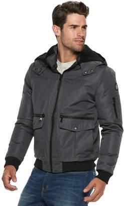 Urban Republic Men's Ballistic Hooded Bomber Jacket