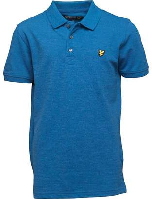 Lyle & Scott Boys Marl Polo True Blue Marl