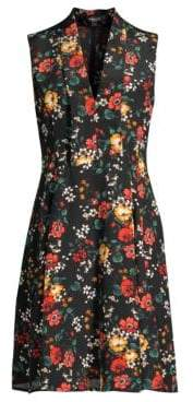 Derek Lam Core Floral Silk Shift Dress