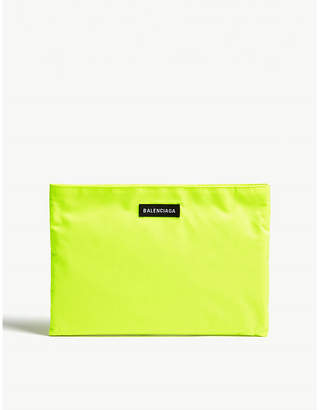 Balenciaga Neon Green Explorer Pouch