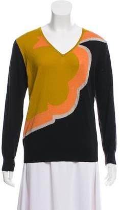 Dries Van Noten V-Neck Wool Sweatshirt
