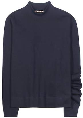 Marni Asymmetrical cotton sweatshirt