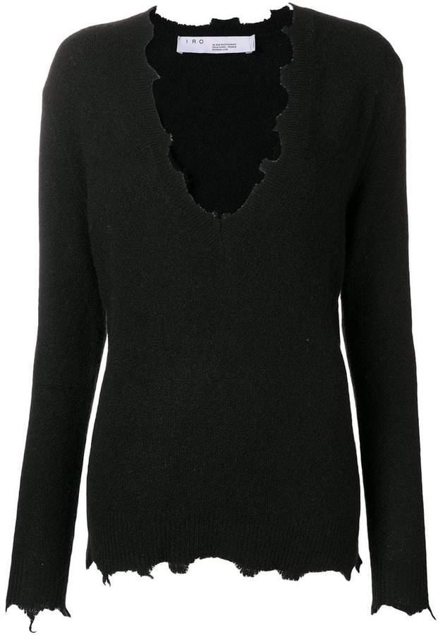 unfinished edges sweater