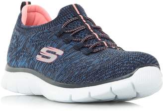 Skechers Empire Knit Bungee Slip On Trainers