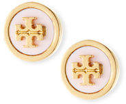 Tory Burch Lacquered Logo Stud Earrings