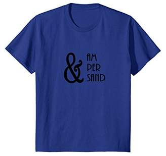 Ampersand And Symbol Typography T-Shirt
