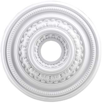 STUDY Artistic Home & Lighting English Medallion 18 Inch In White Finish