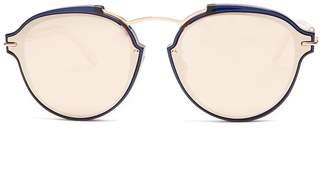 Christian Dior Éclat mirrored round-frame sunglasses
