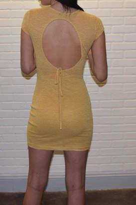 Nude Stripe Knit Dress