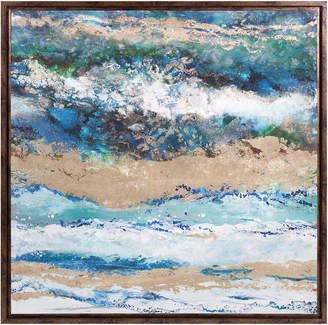 Imax Seaside Waves Framed Canvas