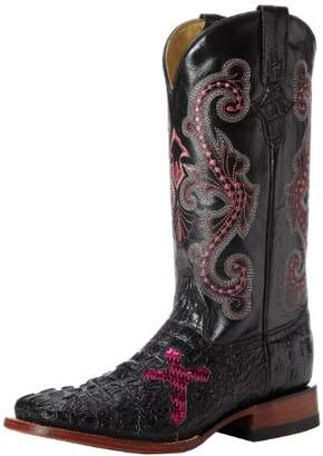Ferrini Women's Print Crocodile S-Toe Western Boot